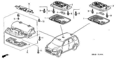 Honda online store : 2003 crv interior light parts