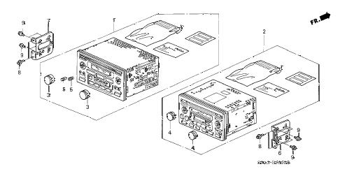 Honda online store : 2005 crv auto radio parts