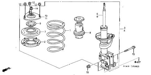 Honda online store : 2002 crv front shock absorber parts