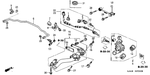 Honda online store : 2002 crv rear lower arm parts