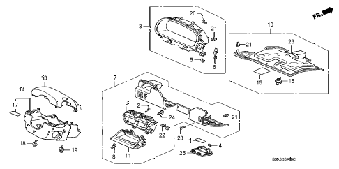 Honda online store : 2002 crv instrument panel garnish
