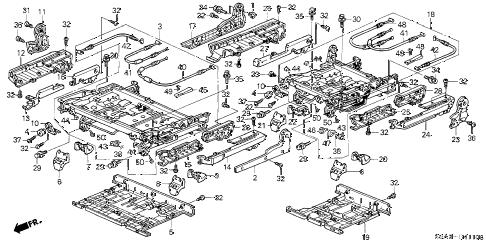 Honda online store : 2002 crv rear seat components parts