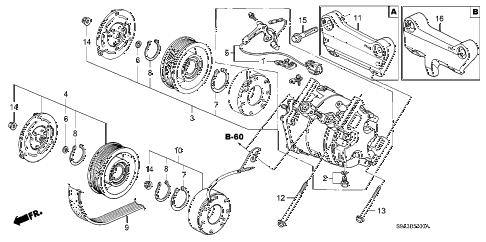 Honda online store : 2004 crv a/c compressor parts