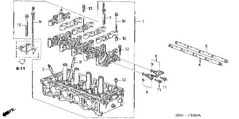 Honda online store : 2003 crv cylinder head parts