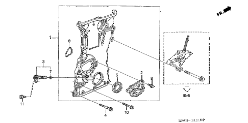 Honda online store : 2003 crv chain case parts