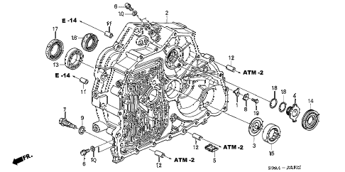Honda online store : 2002 crv at torque converter case