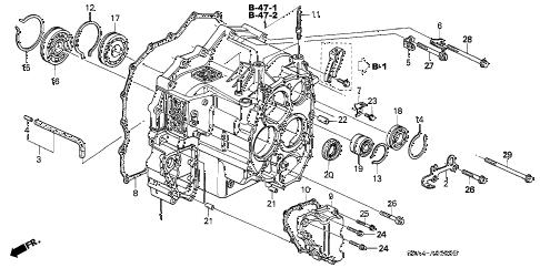 Honda online store : 2003 crv at transmission case parts