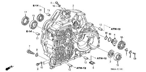 Honda online store : 2005 crv at torque converter case