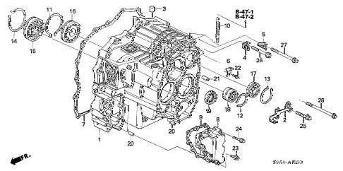 Honda online store : 2005 crv at transmission case (5at) parts