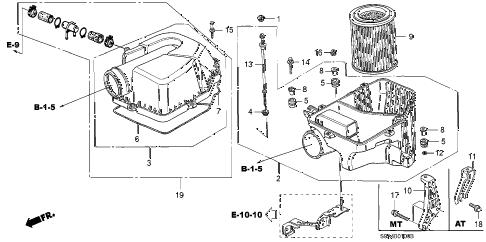 Honda online store : 2003 crv air cleaner parts