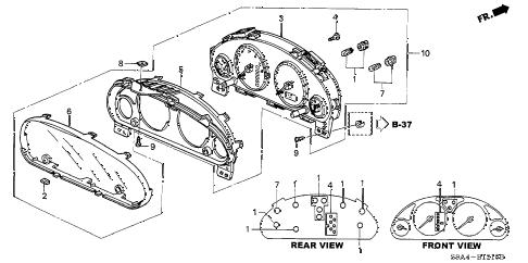 Honda online store : 2003 crv meter components (ns) parts