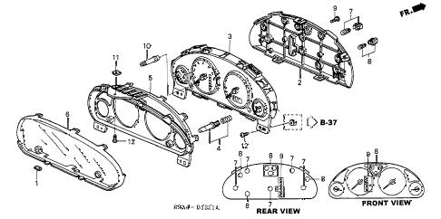 Honda online store : 2004 crv meter components (visteon) parts