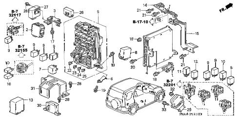 Honda online store : 2003 crv control unit (cabin) parts