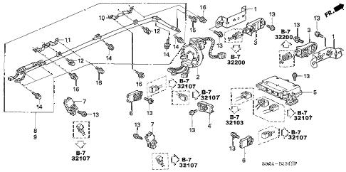Honda online store : 2005 crv srs unit (2) parts