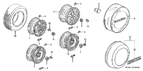 Honda online store : 2003 crv wheel disk (1) parts