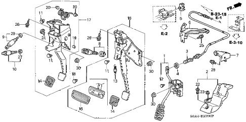 Honda online store : 2002 crv pedal parts