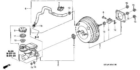 Honda online store : 2005 crv brake master cylinder
