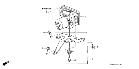 Honda online store : 2005 crv vsa modulator parts