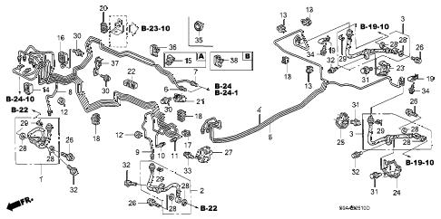 Honda online store : 2002 crv brake lines (abs) parts