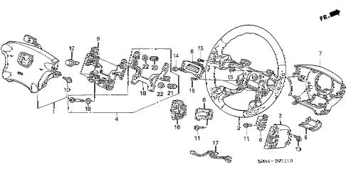 Honda online store : 2003 crv steering wheel (srs) (2) parts