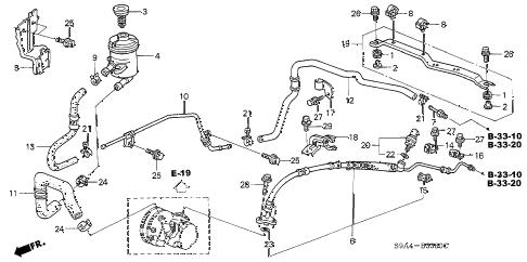 Honda online store : 2003 crv p.s. lines parts