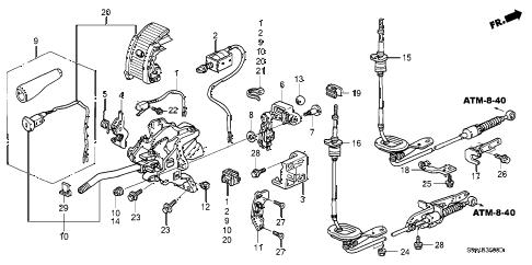 Honda online store : 2003 crv select lever parts