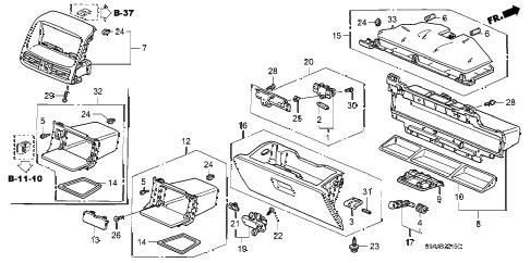 Honda online store : 2005 crv instrument panel garnish