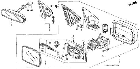 Honda online store : 2002 crv mirror parts