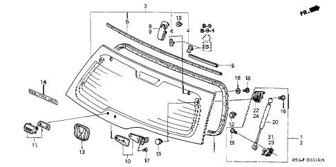 Honda online store : 2004 crv rear hatch glass parts