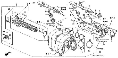Honda online store : 2004 crv intake manifold parts