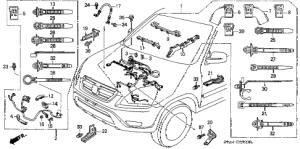 Honda online store : 2004 crv engine wire harness parts