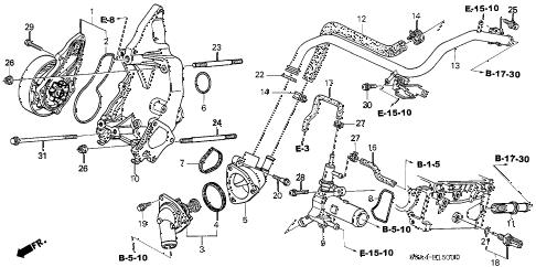 Honda online store : 2002 crv water pump parts