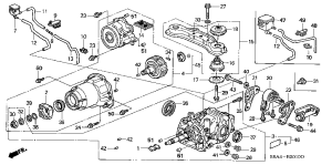 Honda online store : 2003 crv rear differential parts