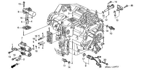 Honda online store : 2006 crv solenoid parts