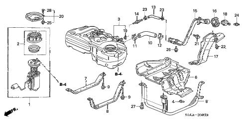Honda online store : 2006 crv fuel tank (1) parts