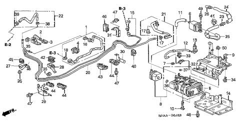Honda online store : 2006 crv fuel pipe (1) parts