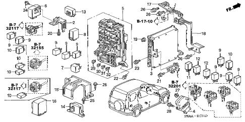 Honda online store : 2006 crv control unit (cabin) parts