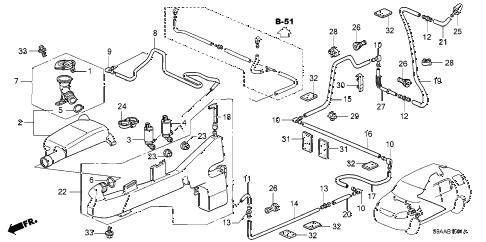Honda online store : 2006 crv windshield washer (2) parts