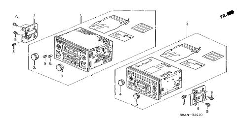 Honda online store : 2006 crv auto radio parts