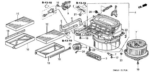Honda online store : 2006 crv heater blower parts