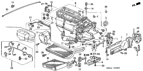 Honda online store : 2006 crv heater unit parts