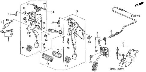 Honda online store : 2006 crv pedal parts
