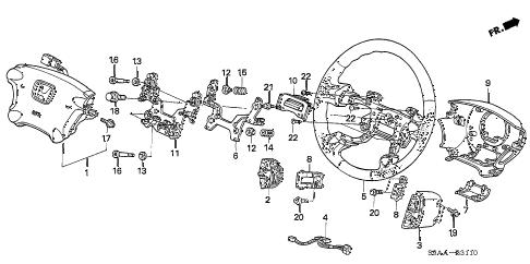 Honda online store : 2006 crv steering wheel (srs) parts