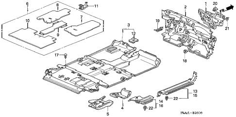 Honda online store : 2006 crv floor mat parts