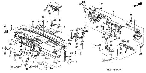 Honda online store : 2006 crv instrument panel parts