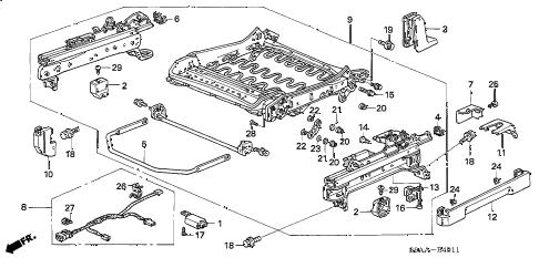 Honda online store : 2006 crv front seat components (l