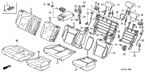 Honda online store : 2006 crv rear seat parts