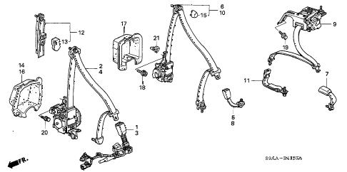 Honda online store : 2006 crv seat belts parts