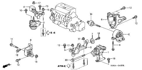Honda online store : 2006 crv engine mounts (at) (2wd) parts