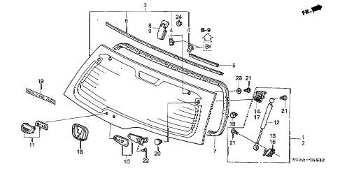 Honda online store : 2006 crv rear hatch glass parts